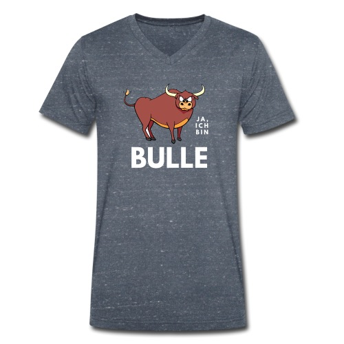 Ja, ich bin Bulle - Männer Bio-T-Shirt mit V-Ausschnitt von Stanley & Stella