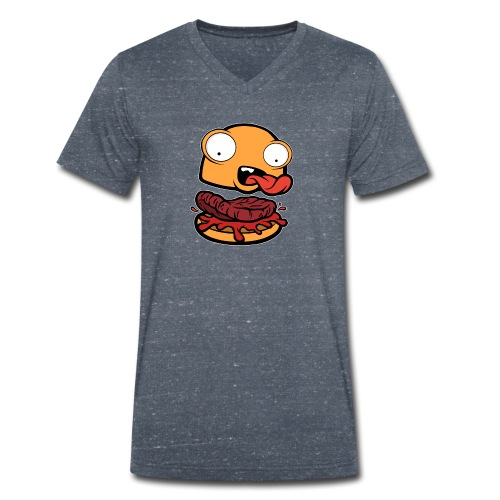 Crazy Burger - Camiseta ecológica hombre con cuello de pico de Stanley & Stella