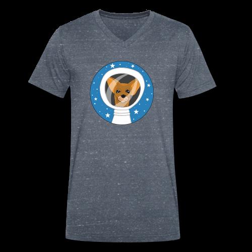 Fifi der Hunde Astronaut im Weltall - Männer Bio-T-Shirt mit V-Ausschnitt von Stanley & Stella