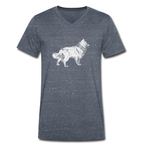 Collie negativ - Männer Bio-T-Shirt mit V-Ausschnitt von Stanley & Stella