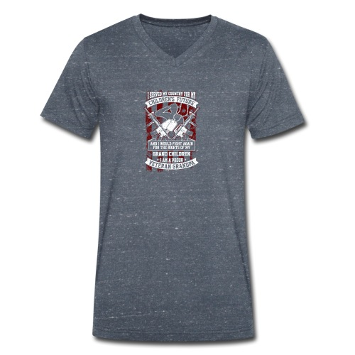 Veteran Grandpa - Männer Bio-T-Shirt mit V-Ausschnitt von Stanley & Stella