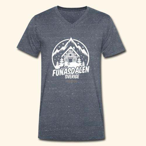 Funäsdalen Sverige Ski Resort T Shirt Design - Männer Bio-T-Shirt mit V-Ausschnitt von Stanley & Stella