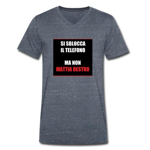 Allcalcio Destro - T-shirt ecologica da uomo con scollo a V di Stanley & Stella