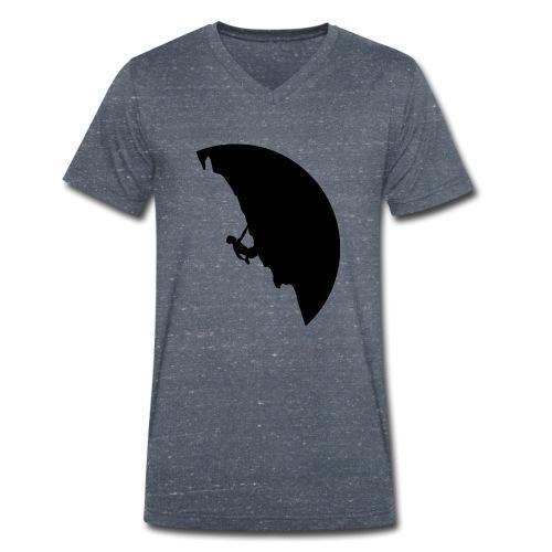 Kletterer in schwarz - Männer Bio-T-Shirt mit V-Ausschnitt von Stanley & Stella