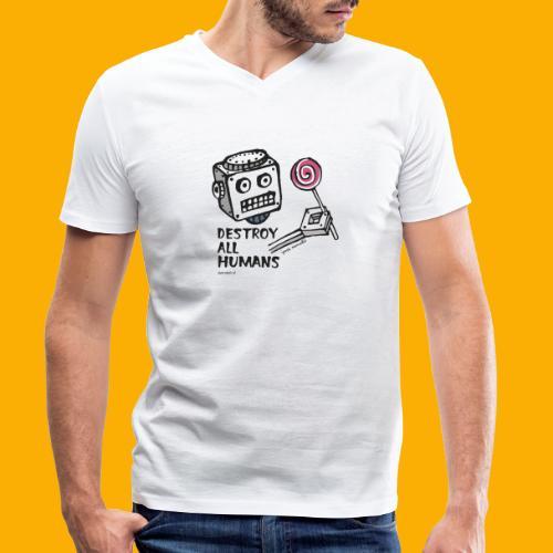 Dat Robot: Destroy Series Candy Light - Mannen bio T-shirt met V-hals van Stanley & Stella