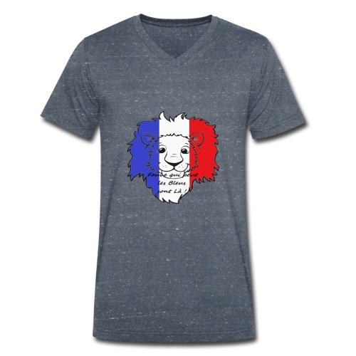 Lion supporter France - T-shirt bio col V Stanley & Stella Homme