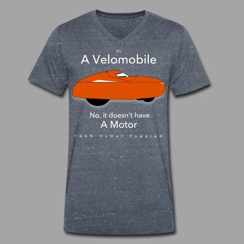 it's a velomobile white text - Stanley & Stellan miesten luomupikeepaita