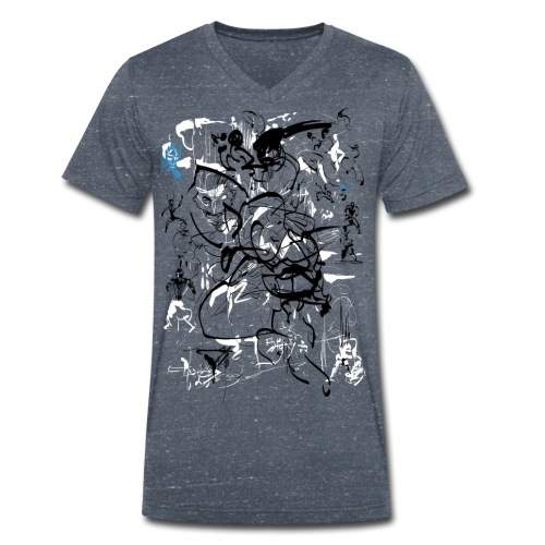 art of shaolin - Men's Organic V-Neck T-Shirt by Stanley & Stella