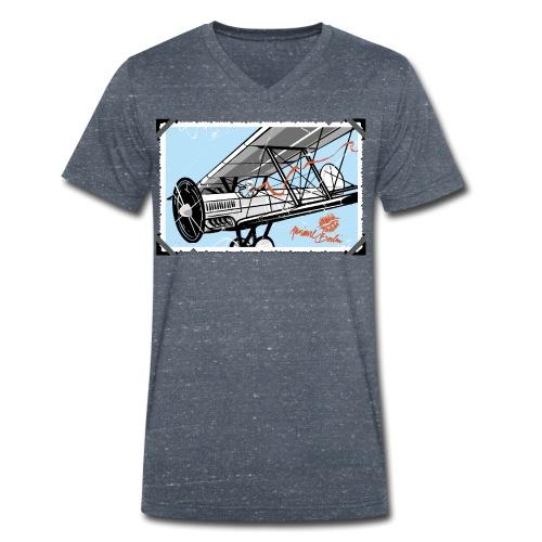 Doppeldecker - Männer Bio-T-Shirt mit V-Ausschnitt von Stanley & Stella
