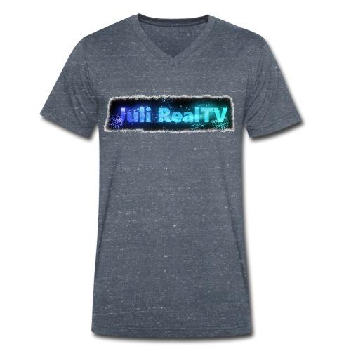 Juli RealTV Logo - Männer Bio-T-Shirt mit V-Ausschnitt von Stanley & Stella
