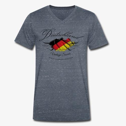 Vintage Deutschland - Männer Bio-T-Shirt mit V-Ausschnitt von Stanley & Stella