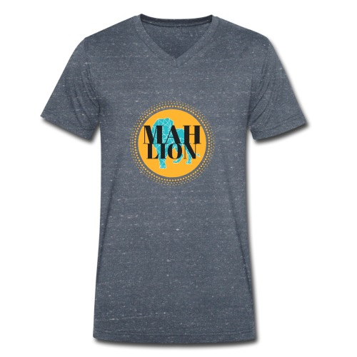 MAH LION - Men's Organic V-Neck T-Shirt by Stanley & Stella