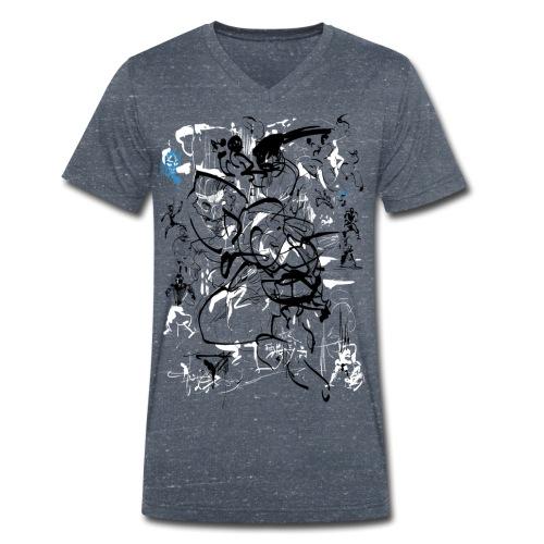 art of shaolin - Men's Organic V-Neck T-Shirt by Stanley & Stella