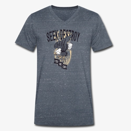 Seek Destroy - Shirts - Men's Organic V-Neck T-Shirt by Stanley & Stella