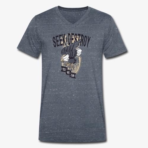Seek Destroy - Shirts - T-shirt bio col V Stanley & Stella Homme