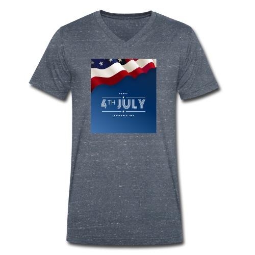 Day July 4th America T-Shirt - Männer Bio-T-Shirt mit V-Ausschnitt von Stanley & Stella