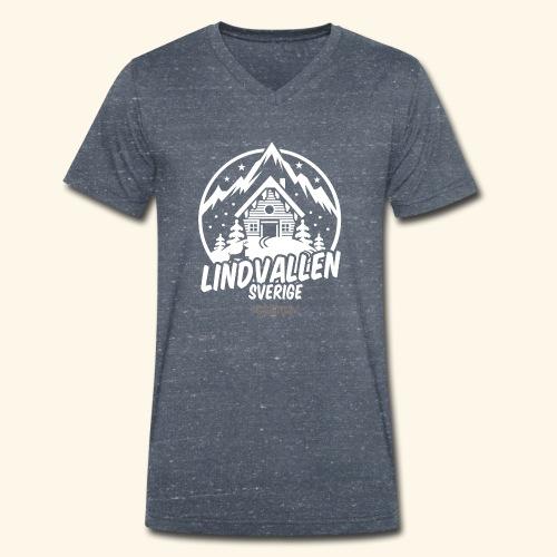 Lindvallen Sälen Sverige Ski Resort T Shirt Design - Männer Bio-T-Shirt mit V-Ausschnitt von Stanley & Stella
