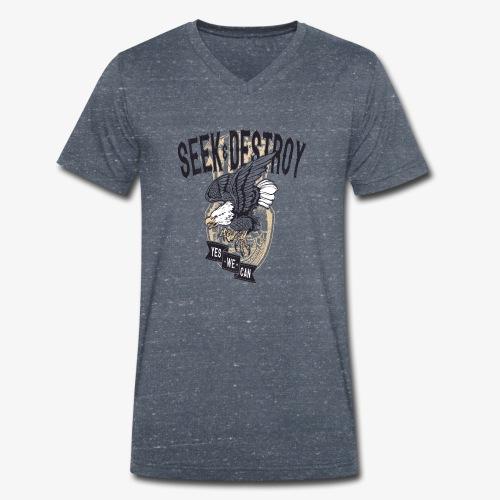Seek Destroy - Shirts - Camiseta ecológica hombre con cuello de pico de Stanley & Stella