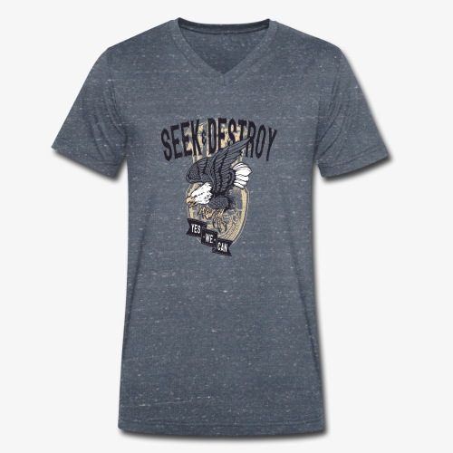 Seek Destroy - Shirts - Ekologiczna koszulka męska z dekoltem w serek Stanley & Stella