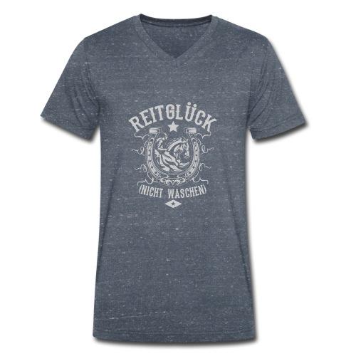 Pferde Shirt · Reiten · Reitsport · Reitglück - Männer Bio-T-Shirt mit V-Ausschnitt von Stanley & Stella