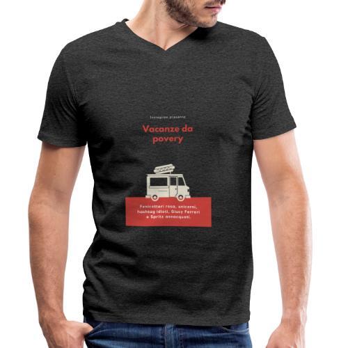 Povery - T-shirt ecologica da uomo con scollo a V di Stanley & Stella