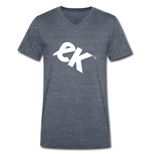 EK logo blanc # 1 - T-shirt bio col V Stanley & Stella Homme