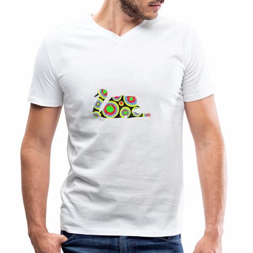 Bunter Schwan mit vielen tollen Farben - Männer Bio-T-Shirt mit V-Ausschnitt von Stanley & Stella