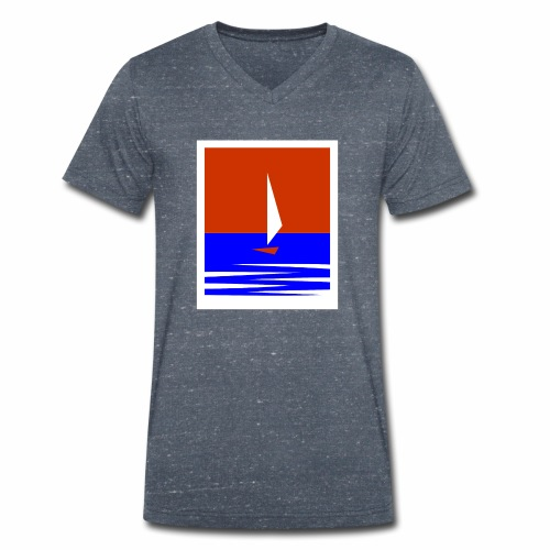 Segeln - Männer Bio-T-Shirt mit V-Ausschnitt von Stanley & Stella