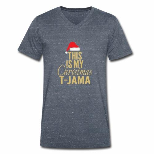 This is my christmas t jama gold 01 - Ekologisk T-shirt med V-ringning herr från Stanley & Stella
