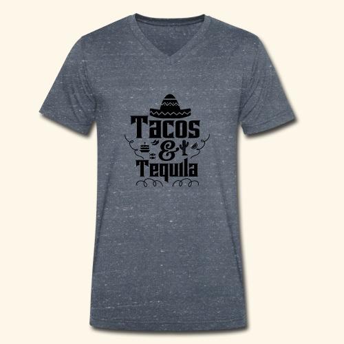 Tacos & Tequila - Männer Bio-T-Shirt mit V-Ausschnitt von Stanley & Stella