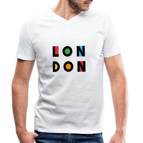 Vintage London Souvenir - Retro Modern Art London - Männer Bio-T-Shirt mit V-Ausschnitt von Stanley & Stella