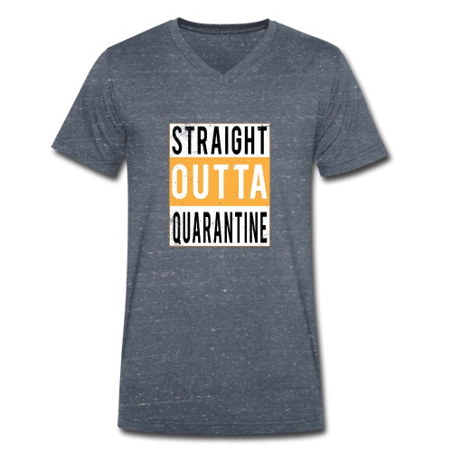 straight outta quarantine - T-shirt bio col V Stanley & Stella Homme