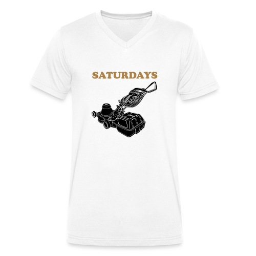 Saturdays Lawnmower - Men's Organic V-Neck T-Shirt by Stanley & Stella