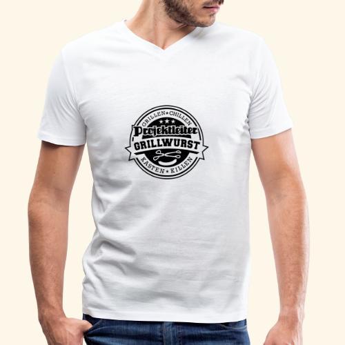 Grill T Shirt Projektleiter Grillwurst - Männer Bio-T-Shirt mit V-Ausschnitt von Stanley & Stella