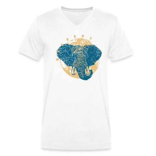 Respect elephant - T-shirt bio col V Stanley & Stella Homme