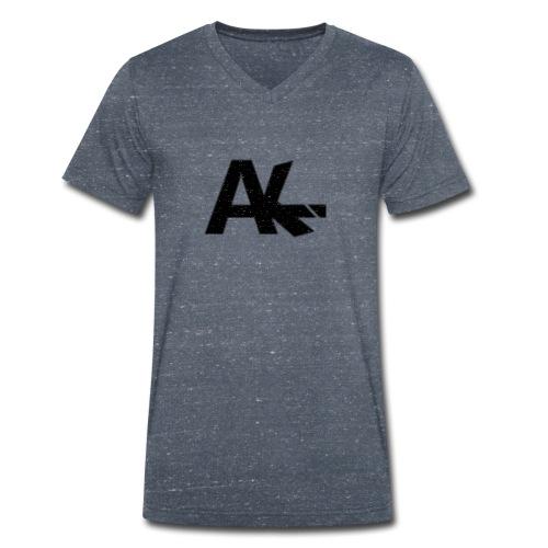Logo de la team AIKE style trait blanc - T-shirt bio col V Stanley & Stella Homme
