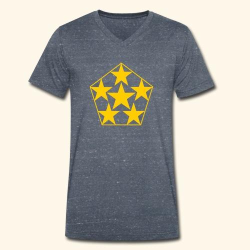 5 STAR gelb - Männer Bio-T-Shirt mit V-Ausschnitt von Stanley & Stella