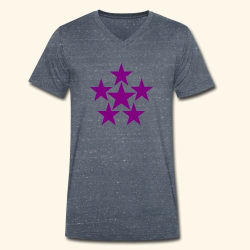 5 STAR lilla - Männer Bio-T-Shirt mit V-Ausschnitt von Stanley & Stella