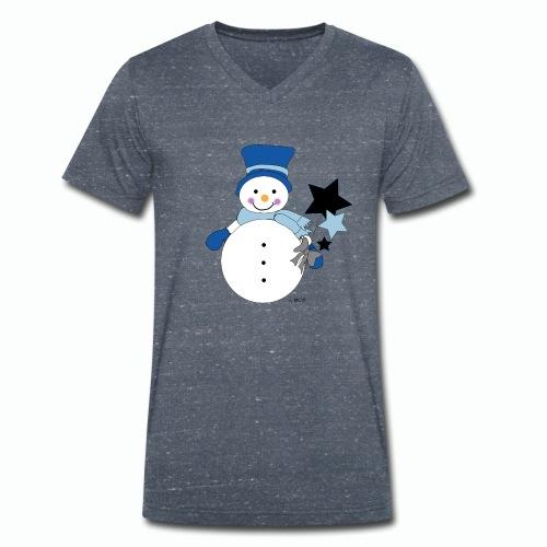Snowtime-Blue - Männer Bio-T-Shirt mit V-Ausschnitt von Stanley & Stella