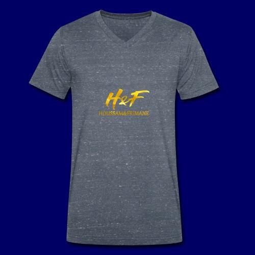 h f gold2 - T-shirt ecologica da uomo con scollo a V di Stanley & Stella