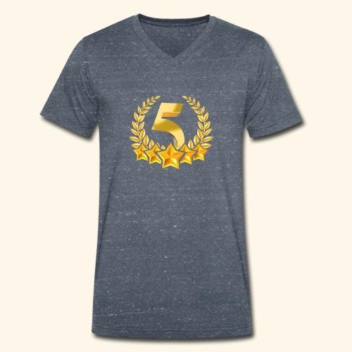 Fünf-Stern 5 sterne - Männer Bio-T-Shirt mit V-Ausschnitt von Stanley & Stella