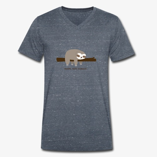 Faultier. Nope. Not Today - Männer Bio-T-Shirt mit V-Ausschnitt von Stanley & Stella