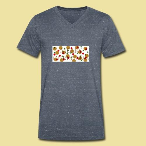 merry-christmas Logo Geschenk - Männer Bio-T-Shirt mit V-Ausschnitt von Stanley & Stella