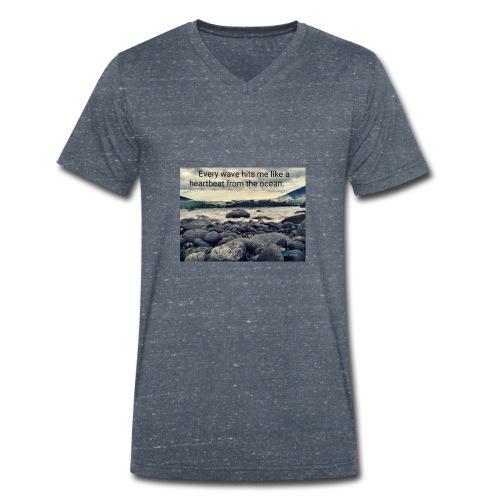 Oceanheart - Økologisk T-skjorte med V-hals for menn fra Stanley & Stella