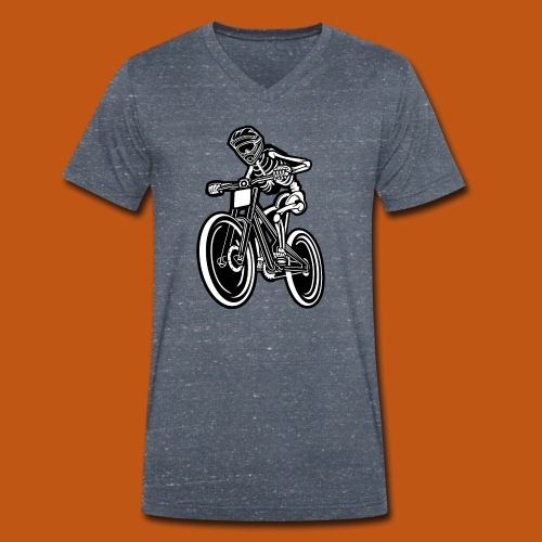 BMX / Mountain Biker 04_schwarz weiß - Männer Bio-T-Shirt mit V-Ausschnitt von Stanley & Stella