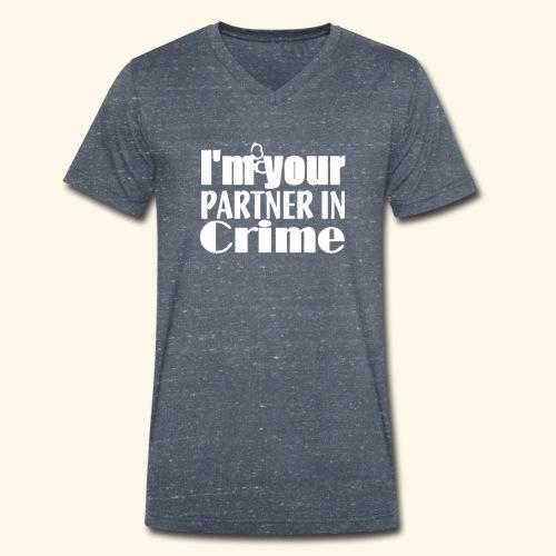 Partner In Crime - Men's Organic V-Neck T-Shirt by Stanley & Stella