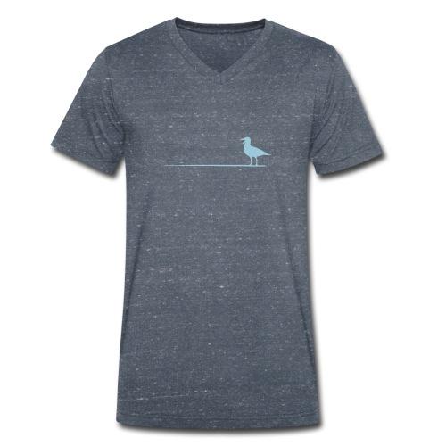 Möwe auf dem Strich - Männer Bio-T-Shirt mit V-Ausschnitt von Stanley & Stella