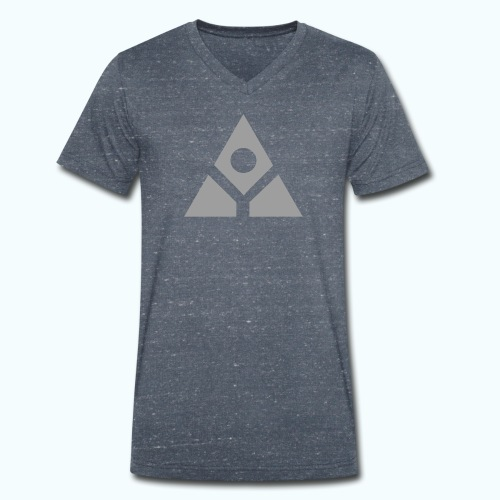 Sacred geometry gray pyramid circle in balance - Men's Organic V-Neck T-Shirt by Stanley & Stella