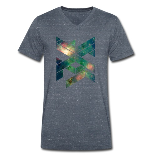 Galaxie Geometische Form - Männer Bio-T-Shirt mit V-Ausschnitt von Stanley & Stella