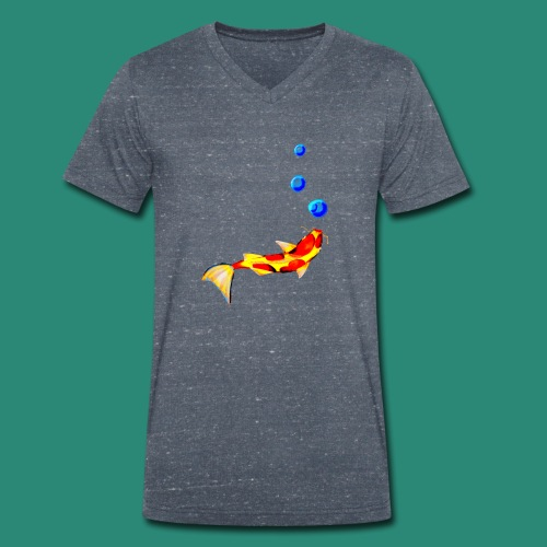 der Fisch - Männer Bio-T-Shirt mit V-Ausschnitt von Stanley & Stella